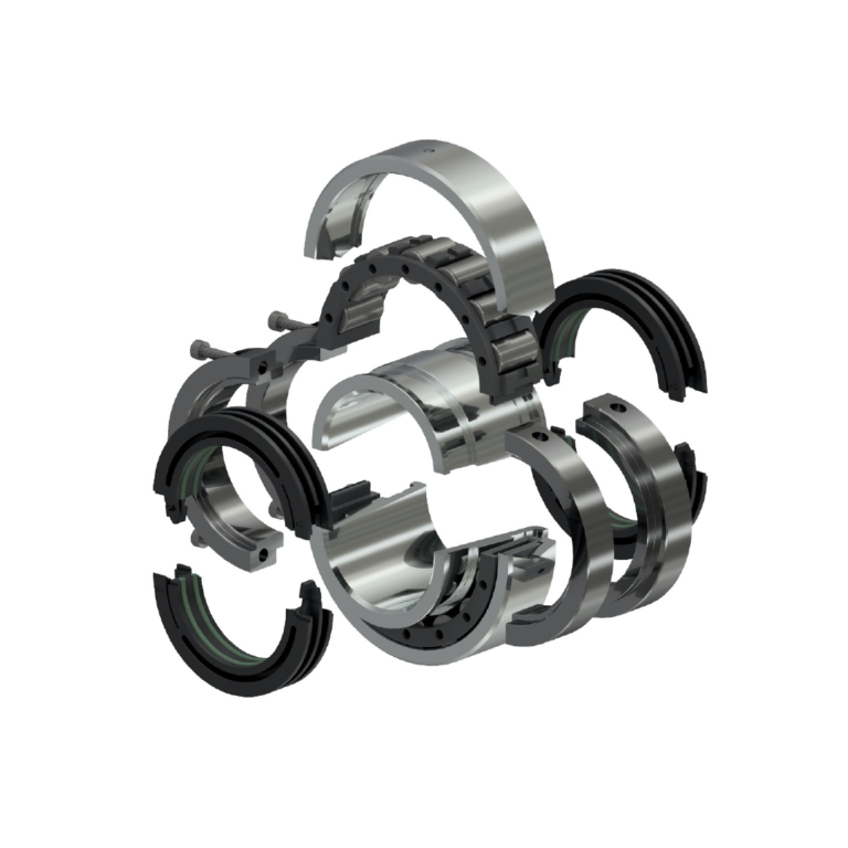 inner cage, clamp rings, seals and outer race